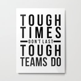 Team Work Quotes, Office Wall Art, Office Art, Office Gifts Metal Print