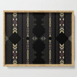 Southwestern Black Diamond Stripe Patterns Serving Tray