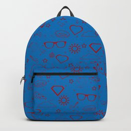 Supergirl/Kara's pattern - red Backpack
