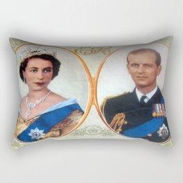 Queen Elizabeth 11 & Prince Philip in 1952 Rectangular Pillow