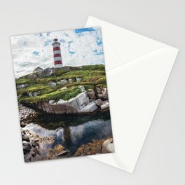 Moored at the Lighthouse Stationery Cards