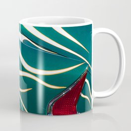 Classic Car Aflame with Flame Striping Coffee Mug