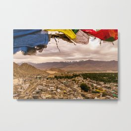 View of the city from Leh Palace, Ladakh, India Metal Print