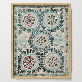 Ferghana Suzani  Northeast Uzbekistan Embroidery Print Serving Tray