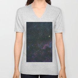 The North America Nebula in Cygnus Constellation, Brightest star Deneb Unisex V-Neck