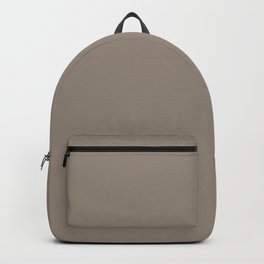 Historic Light Brown Solid Color Accent Shade Matches Sherwin Williams Hammered Silver SW 2840 Backpack