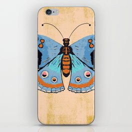Baby Blue Butterfly iPhone Skin
