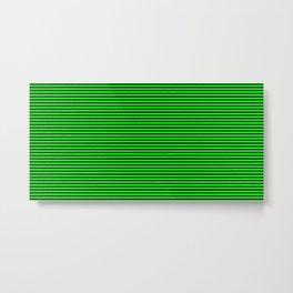 Neon Green Stripes Metal Print