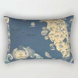 old florida map Rectangular Pillow