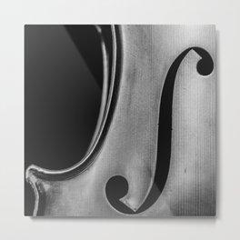 violin music aesthetic close up elegant mood art photography  Metal Print