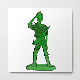Barbie Toy Soldier Girl! Cool Barbie/Army Pop Art! Metal Print