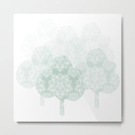 Lace forest Metal Print