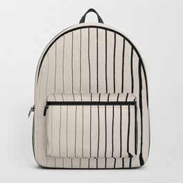 Black Vertical Lines Backpack