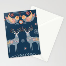 Nordic Winter Blue Stationery Cards