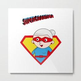 Super Grandma 3 Metal Print