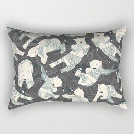 arctic polar bears charcoal Rectangular Pillow