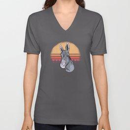 Donkey Cute Donkey Shirt Unisex V-Neck