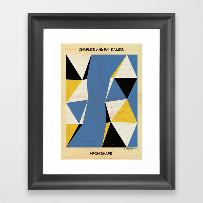 Shape Charles And Ray Eames Framed Art Print by Federicobabina FRM2932814