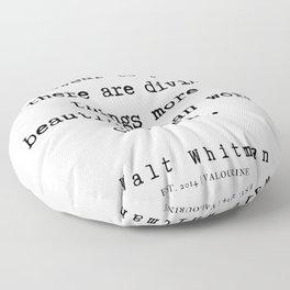 5    | Walt Whitman Quotes | 19080303 Floor Pillow