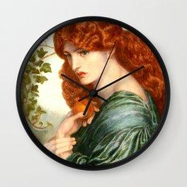 """Dante Gabriel Rossetti """"Proserpine"""" Wall Clock"""