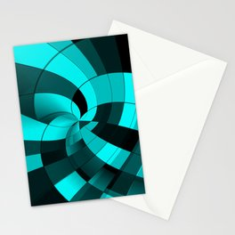 Midnight blue vortex Stationery Cards