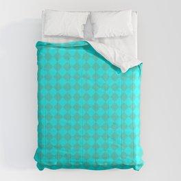 Cyan and Turquoise Diamonds Comforters