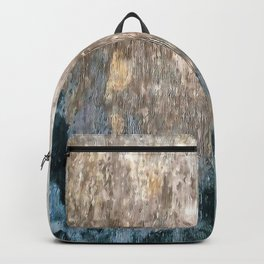 Blue Grey Abstract Backpack