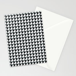 Night Watch Pewter Green Hexagon, Cube Pattern Optical Illusion Stationery Cards