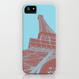 Eiffel Tower Color Pop iPhone Case