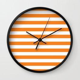 Horizontal Orange Stripes Wall Clock