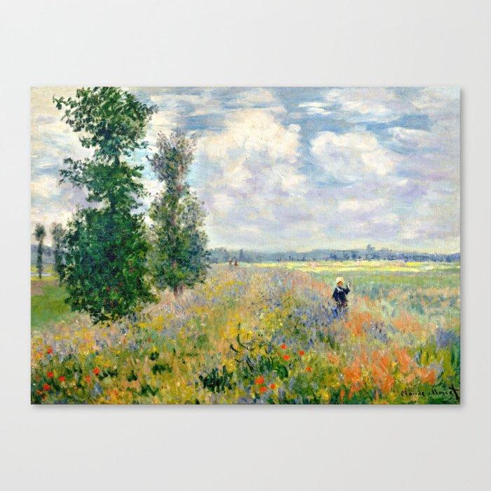 Poppy Fields near Argenteuil by Claude Monet Leinwanddruck