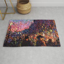 Paris Boulevard Masterpiece by Maximilian Luce Rug