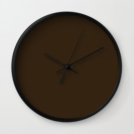 Simply Solid - Umber Brown Wall Clock