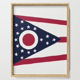 Ohio State Flag Serving Tray