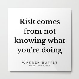 7   | Warren Buffett Quotes | 190823 Metal Print