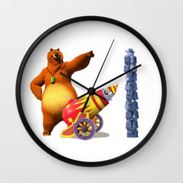 grizzy and lemmings Wall Clock