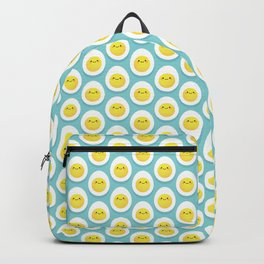 Cute hard boiled eggs Backpack