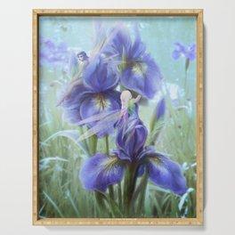 Imagine - Fantasy iris fairies Serving Tray