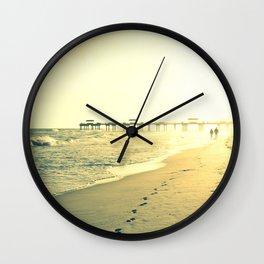 Couple on the Beach Wall Clock
