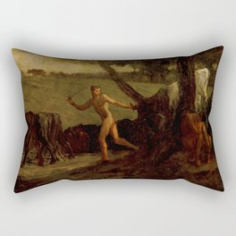 """Jean-François Millet """"Study for 'Mercury Leading the Cows of Argus to Water'"""" Rectangular Pillow"""