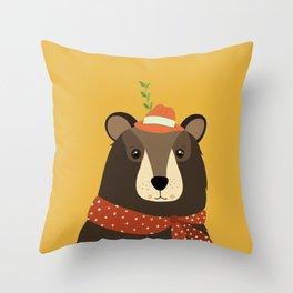 Brown Bear Print, Throw Pillow
