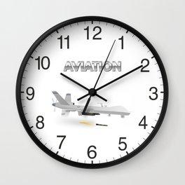 Reaper Military UAV Wall Clock