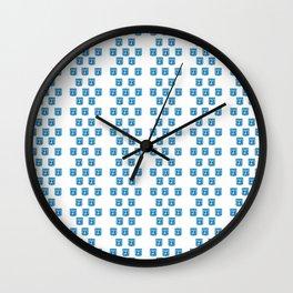 emblem of Israel 2-יִשְׂרָאֵל ,israeli,Herzl,Jerusalem,Hebrew,Judaism,jew,David,Salomon. Wall Clock