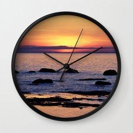 Summer's Glow and the Circle of Rocks Wall Clock