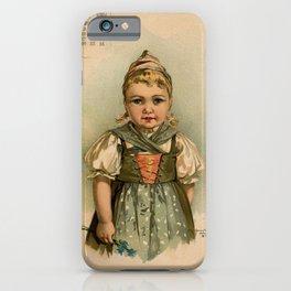 German Girl Maud Humphrey 1891 iPhone Case