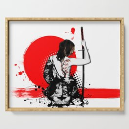Trash Polka - Female Samurai Serving Tray