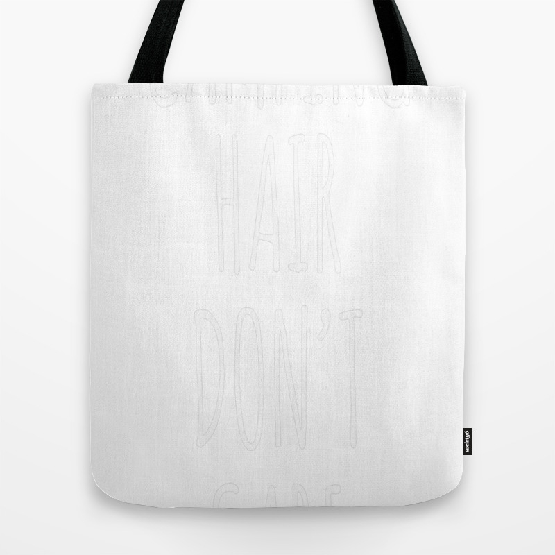 Camping Hair Don't Care Tote Bag by Nguyenngoclinhe TBG7710155