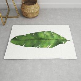 Banana leaf. Watercolor Illustration. Rug