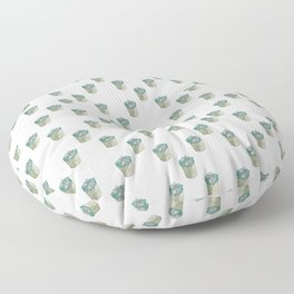 Watercolor Succulent Floor Pillow