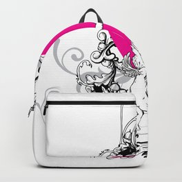 Cupid Floral Valentines Day Backpack
